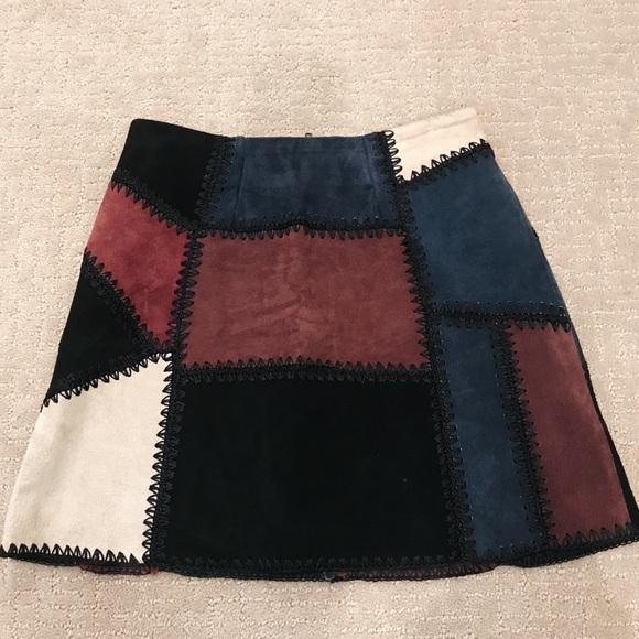 Zara Dresses & Skirts - Zara Suede Patchwork Mini Skirt